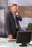 Businessman on phone call Royalty Free Stock Photography