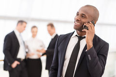 Businessman on the phone. Royalty Free Stock Photo