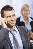 Businessman on phone in office Royalty Free Stock Photography