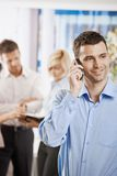 Businessman on the phone in office Royalty Free Stock Photos