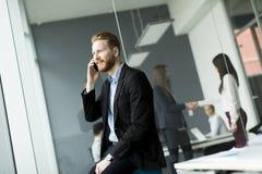 Businessman on a phone Stock Photos
