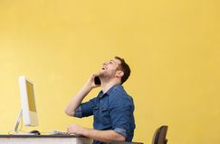 Businessman on phone at the office Stock Photography