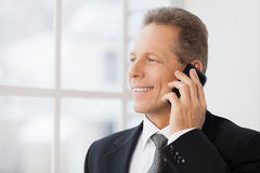 Businessman on the phone. Royalty Free Stock Images