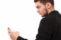Businessman with phone Stock Image