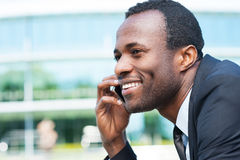 Businessman on the phone. Stock Photo