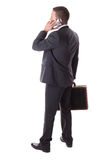 Businessman with phone Stock Photo
