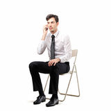 Businessman phoning Stock Photos