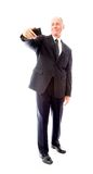 Businessman photographing self with a mobile phone Royalty Free Stock Images