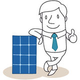 Businessman photovoltaic cell solar energy Royalty Free Stock Photography