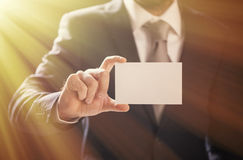 Businessman Pick Business Card Stock Images