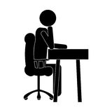 Businessman pictogram icon image Stock Images