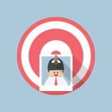 Businessman picture stick on target by arrow, Recruitment, Hirin Stock Images