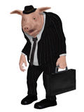 Businessman pig Royalty Free Stock Image