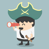 Businessman Pirates  the Hunt Stock Photo