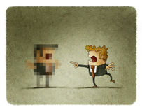 Businessman pixelated Royalty Free Stock Photos