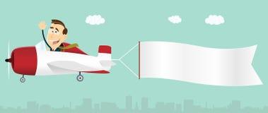 Businessman Plane Advertisement Banner