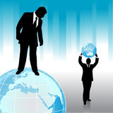 Businessman with planet Royalty Free Stock Photography