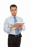 Businessman with Daily Planner. Business man with Daily Planner Royalty Free Stock Image