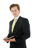 Businessman with planner Royalty Free Stock Image