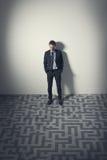 Businessman planning strategies stock photo