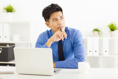 Businessman planning and thinking Royalty Free Stock Photography
