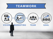 Businessman Planning Vision Strategy Connection Teamwork Concept Stock Photo