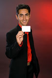 Businessman with plastic card. Royalty Free Stock Photo