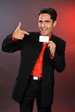 Businessman with plastic card. Stock Photo