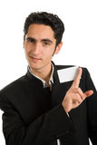 Businessman with plastic card. Stock Photography