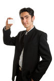 Businessman with plastic card. Royalty Free Stock Image
