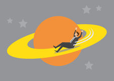Businessman Playground in Outer Space Stock Photos
