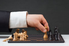 Businessman playing against the rules Stock Photography