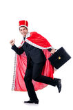 Businessman playing king Stock Photography