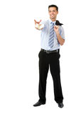 Businessman playing with money Stock Photography