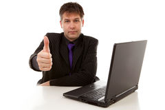 Businessman is pleased Royalty Free Stock Photos
