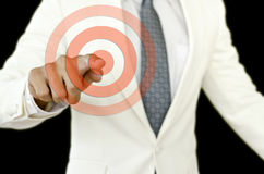 Businessman point the aim. A photo of businessman point the aim Royalty Free Stock Image