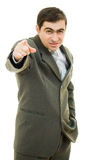 Businessman point a finger Royalty Free Stock Image