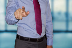 Businessman point finger to you Royalty Free Stock Image