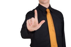 Businessman point finger at you Stock Photos