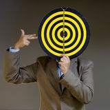 Businessman point to target Stock Photography