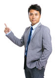 Businessman point up Royalty Free Stock Photography
