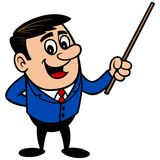 Businessman  with Pointer Stick Stock Photography