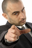 Businessman pointing Royalty Free Stock Photography