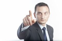 Businessman pointing royalty free stock photo