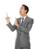 Businessman pointing Stock Photos
