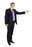 Businessman pointing Stock Photo