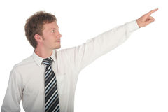 Businessman Pointing Stock Photography