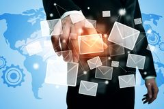 Email networking concept Royalty Free Stock Image