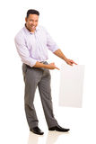 Businessman pointing blank board Royalty Free Stock Photography