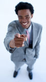 Businessman pointing at the camera Stock Photo